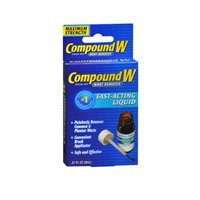 Compound W Compound W Wart Remover - Maximum Strength Liquid, 0.31 oz (Pack of 3)