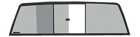 CRL Three Panel Tri-Vent Truck Slider with Dark Gray Glass for 1988-1995 Isuzu