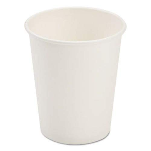 White Paper Dopaco - Pactiv Dopaco Paper Hot Cups, 8 Oz, White, 50/Bag, 20 Bags/Carton
