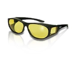 Global Vision Escort Over-Prescription Glasses Sunglasses Yellow Tinted Has Matching Side Lenses Meets ANSI Z87.1-2003 Standards for Safety Eyewear, Outdoor Stuffs
