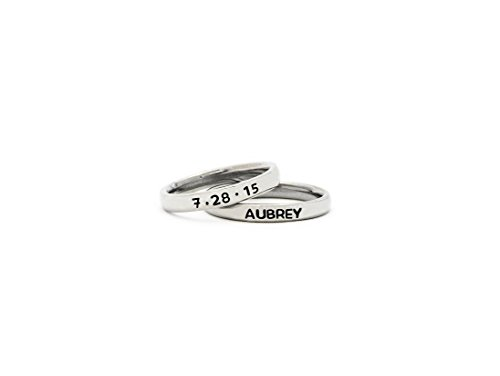 Stack Rings - Personalized Stamped Name Rings - RR ()