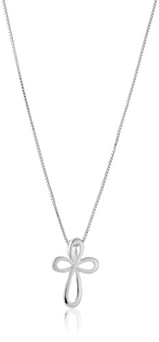 Sterling Silver Eternity Cross Pendant, 18""