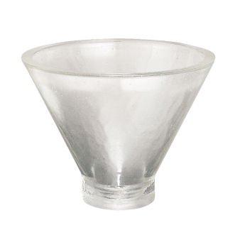 Geometrique Glass Cone Basin