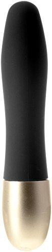 Seven Creations Discretion - Mini Vibrator mit samtweicher Oberfläche, 11 cm lang, Durchmesser: 2 cm, schwarz