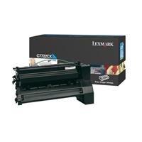 - Lexmark Extra High Yield Cyan Toner Cartridge, 15000 Yield (C7722CX)