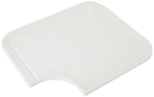 Camco Sink (Camco Sink Mate Cutting Board - Designed For RV, Camper, and Trailer Kitchen Sinks- Create More Counter Space, Cut Corner for Scrap Release, Sturdy Design- White (43857))