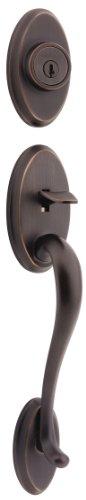 Kwikset Shelburne Single Cylinder Handleset w/Lido Lever featuring SmartKey in Venetian - Lido Keyed Entry