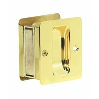- SCHLAGE Lock CO SC990B-605 Schlage Sc990B3 Door Pull, 2-3/4 in L 2-1/2 in D, Solid, Bright, Brass