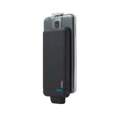 iHome | Adjustable JetPack 3000mAh Micro USB Wireless Portable Battery - Black - See More Colors by iHome