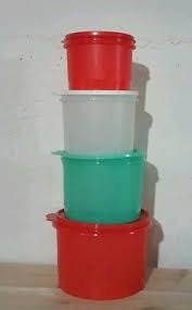 Tupperware 4 Piece Stacking Canister Set for Gifts, Holid...