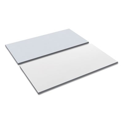 Alera TT4824WG Reversible Laminate Table Top, Rectangular, 47 5/8w X 23 5/8d, White/Gray -
