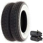 (Shinko SR550 Street White Wall Tire Set - Compatible with Honda Z50A/R - 1968-1999 - Tires and Tubes)