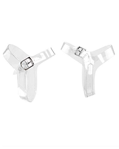 (Pleaser Detachable/Reusable Clear Ankle Straps Converts Any Stiletto Heels (DASC) 5 to 10-1 Set)