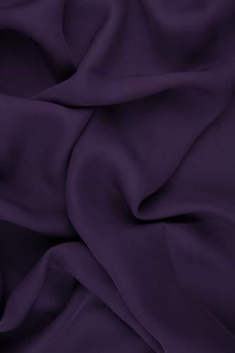 Plum Silk Double Georgette Fabric