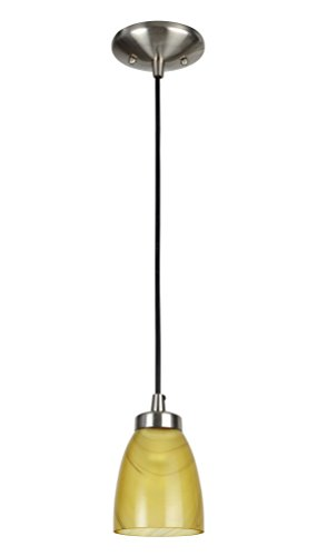 Aspen Creative 61089, 1-Light Hanging Mini Pendant Ceiling Light, 5 1/4