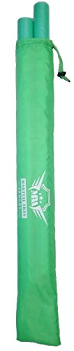 Foam Padded Training Escrima with Case - Pair (Green)