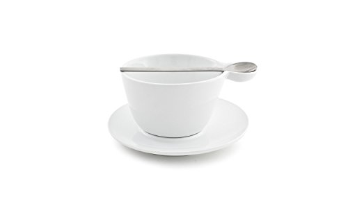 "Front of the House DCS039WHP23 Harmony Cup, 4"" Diameter, 2.75"" Height, 10 oz, Porcelain (Pack of 12)"