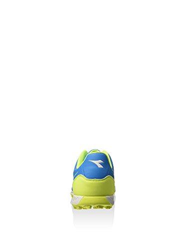 diadora 750 Iv Tf, Botas de Fútbol para Hombre, Turquesa / Blanco / Amarillo Flúor, 40 EU