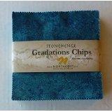 Stonehenge Gradations Lagoon Chips Charm Pack, 42-5