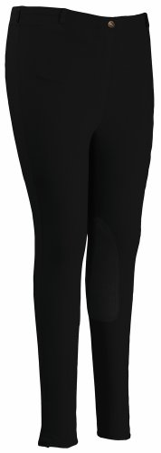TuffRider Women's Cotton Pull-On Breeches , Black, 38
