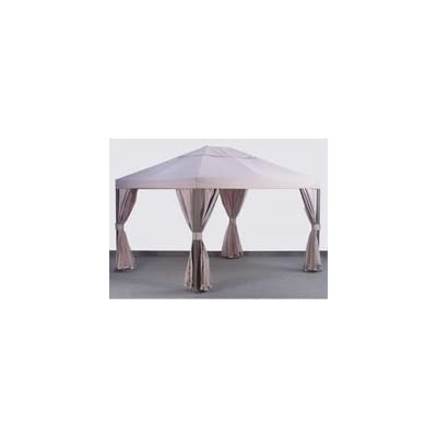 Garden Winds 10 X 12 Square Post Single Tiered Gazebo Replacement Canopy Top Cover : Garden & Outdoor