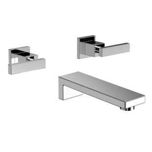 Newport Brass 3-2565 Skylar Wall Mounted Roman Tub Faucet Trim with Metal Lever, Polished Chrome