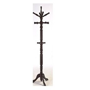 MyEasyShopping Wooden Coat Rack with Spinning Top in Cherry Finish Rack Coat Wooden Hat Wall Hooks Hanger Hook Wood Entryway Tree -