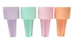 Set-of-Four-Spiker-Beach-Beverage-Sand-Cup-Holders-NEW-Pastel-Colors