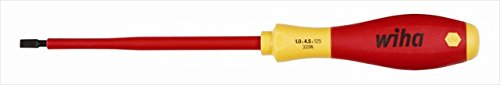 Ins Screwdriver, Slotted, 1/4x5 In, Round
