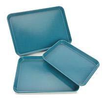 Curtis Stone Dura-Bake Nonstick 3-Piece Sheet Pan Baking Set - Turquoise Blue