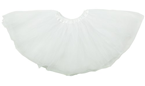 Dancina White Tulle Skirt for Women Plus Size 12-24 White