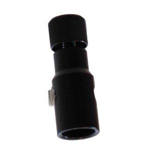 Palmer Pneumatics Universal Fill Adapter with Aluminum Knob Black by Palmer Pneumatics