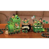 Celebrating Leprechaun Express Train St Patrick's Day Tabletop Home Accent Decoration]()