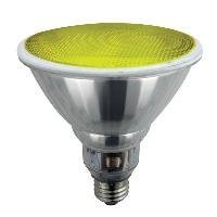 Sunlite SL23PAR38/Y 23 Watt PAR38 Energy Saving CFL Light Bulb Medium Base Yellow - Yellow Cfl