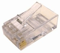 Cables Unlimited Cat6 2-Piece RJ45 Connector for Solid Wire 25 Pack Clear