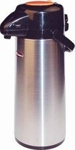 Winco Glass Lined Airpot, 2.5-Liter, Push Button, Decaf
