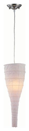 Lite Source LS-19181WHT Moonlight Pendant Lamp, with White Paper Shade (Lite Paper Source)