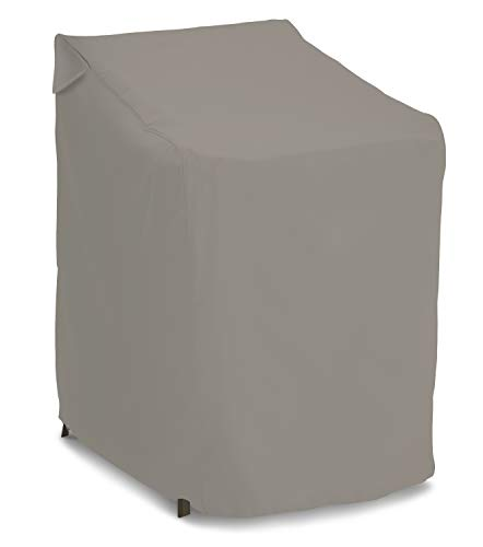 AmazonBasics Outdoor Patio Stackable Chair Cover – Waterproof, 100% Woven Polyester – Grey
