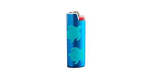 Sea Turtles BIC Lighter Cover Metal Blank Vinyl Design - CUSTOM MADE by Custom Cuts and Creations LLC