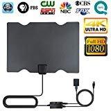 TV Antenna, Indoor Digital HDTV Antenna 4K 1080P 60-80 Miles Range with Adjustable