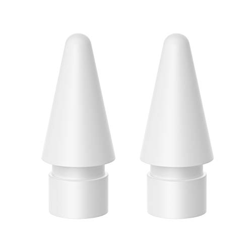 TiMOVO Pencil Tip for Apple Pencil, [2-Pack] Replacement Tip for Apple Pencil iPencil Nib for iPad Pro 10.5 inch 12.9 inch 9.7 inch iPad Pro 11 2018 iPad Pro 12.9 2018 Apple Pencil, White