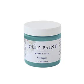 (Jolie Paint - Matte Finish Paint for Furniture, cabinets, Floors, Walls, Home Decor and Accessories - Water-Based, Non-Toxic - Verdigris - 4 oz (Sample Size))