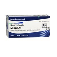 Bausch & Lomb Muro 128 Sodium Chloride Hypertonicity Opthalmic Ointment 5% 3.5g (lot of 4 (Opthalmic Ointment)