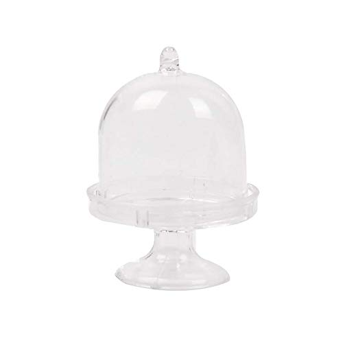 Transparent Plastic Cake Box - 12pcs Mini Cake Stand Cupcake Box Wedding Party Plastic Candy Transparent Practical Boutique - Party Decorations Party Decorations Muffin Container Clear -