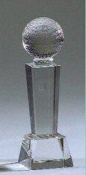 Optical Crystal Golf Award - Elegance Silver Golf Trophy, 7