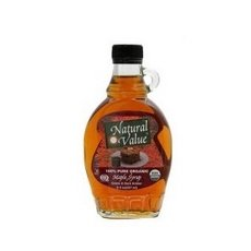 Natural Value A Dark Amber Maple Syrup, 8-ounce Jars (Case of 12)
