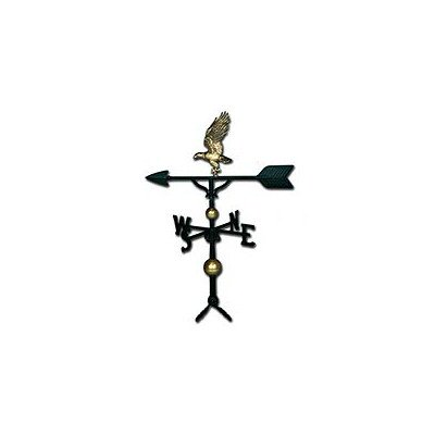 Montague Metal Products 32-Inch Deluxe Weathervane with Satin Black Eagle Ornament