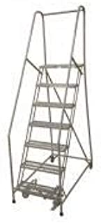 product image for Cotterman 1507R2630A3E10B4W5C1P6 - Rolling Ladder Steel 100In. H. Gray