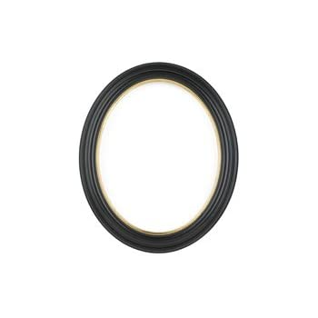Amazoncom Rabbetworks Plain Black Oval Picture Frame 5x7 With