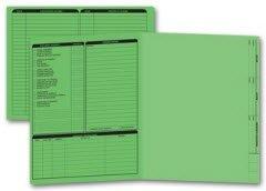 EGP Letter Size Real Estate Listing Folder Left Panel - Green